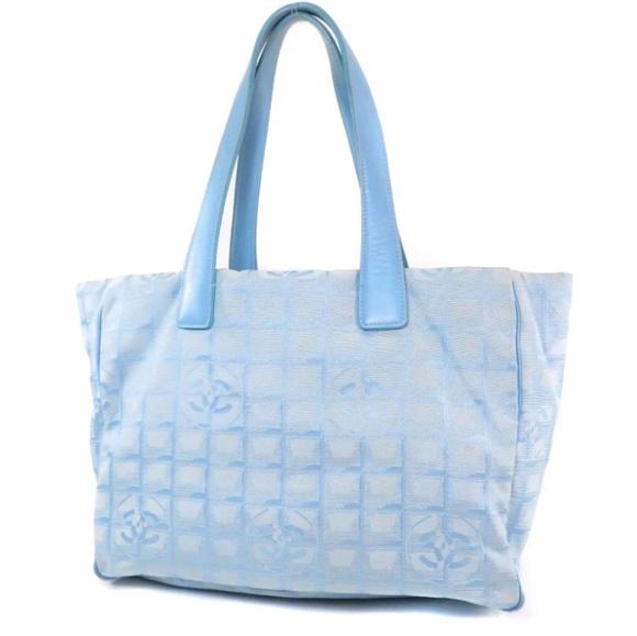 c46352df0f9f CHANEL Bags | Auth Blue Nylon Tote Bag | Poshmark